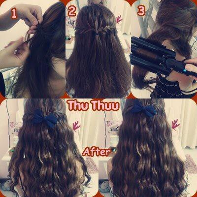 Máy dập xù tóc 4 in 1, máy là tóc thẳng, máy uốn xoăn tạo kiểu tóc cực đẹp, cực xinh giá khuyến mại