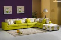 Luxury Home - Sofa góc chất liệu nỉ.