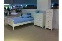 Giường trắng QC: 1.5m *1.9m (gỗ Oak -Sồi mỹ ).
