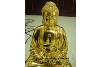 Tượng Phật A Di Đà Gỗ Mít Thếp Vàng.