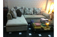 Nội thất cao cấp LuxuryHome - Bộ sofa góc nỉ mã LH-FCS52B.