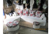 Nội thất cao cấp Luxury Home - Bộ sofa góc nỉ mã LH-FCS.