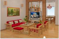 sofa gỗ tự nhiên tưng bừng giảm giá cực shock chỉ 18 triệu.