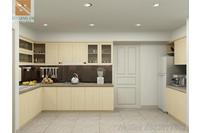 Tủ bếp Veneer sồi VS02.