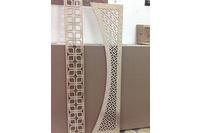 Cắt CNC , cắt vách ngăn , vách lộng tấm trang trí gỗ Veerner 18mm,.