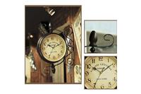 Đồng hồ phong cách cổ điển 2 mặt treo góc tường.