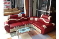 sofa góc giả da giá 3.450.000/bộ.