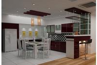 MSP :033 Tủ bếp Laminate  phong cách trẻ.
