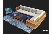 Sofa gỗ góc, sofa gỗ tự nhiên. Nội thất Kim Anh.