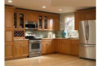 MSP060: Mẫu tủ bếp gỗ tự nhiên sồi mĩ vân gỗ sang trọng.