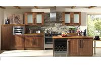 MSP055 : Mẫu thiết kế tủ bếp gỗ laminate vân gỗ óc chó mẫu 20.