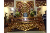 Sập thờ lớn gỗ mít.