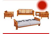 sofa giường giá rẻ chất liệu gỗ sồi sang trọng.