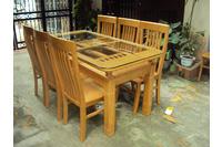 Bộ bàn ăn 6 ghế gỗ sồi nga EPA-145.