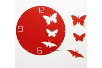 Đồng hồ  dán tường bướm tròn.