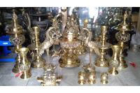 Bộ đỉnh thờ gia tiên dapha số 1 ngũ sự cao 70cm.