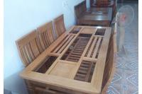 bàn ghế ăn 6 ghế gỗ sồi nga giá rẻ( bảo hành 2 năm).