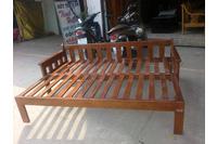 sofa giường vải chi lai, sofa giường gỗ đẹp giá rẻ.