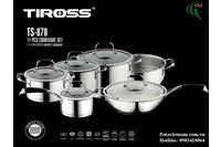 Bộ Nồi Nấu Tiross 11 Phần S/S.