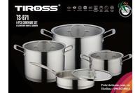 Bộ Nồi Nấu Tiross 8 Phần S/S.