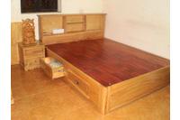 giường ngủ gỗ tự nhiên.