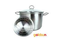Bộ nồi inox xửng hấp nhiễm từ Goldsun GH05- 2303SG.