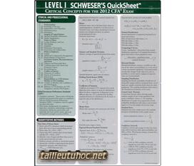 Sách Schweser CFA level 1 2012