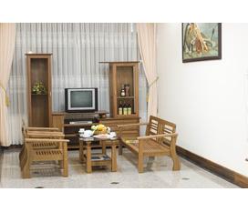 Salon gỗ, màu sắc tự nhiên, nổi bật không gian phòng khách, Hoàng anh gia lai