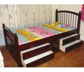 Giường đơn cho bé KT đệm 1mx1m90
