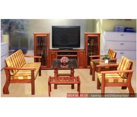 Salon gỗ tự nhiên, đẹp, sang trọng và bền cho phòng khách