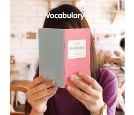 VPPQC Sổ học ngoại ngữ luyện nhớ từ, luyện ngữ pháp thật tiện dụng