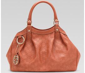 Túi Gucci Sukey, dòng Guccissima medium size, màu đỏ san hô