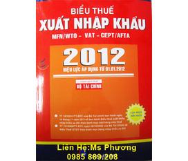 Biểu thuế 2012