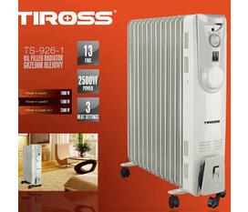 Máy sưởi dầu Tiross TS 926 1, 13 thanh, 2500w. hông đốt cháy oxy, giữ cân bằng độ ẩm trong phòng