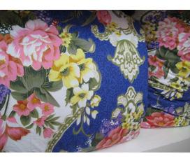 Chăn lông vũ cao cấp vinadown 1080k màu xanh in hoa