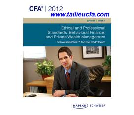 Toàn quốc Tài liệu CFA 2012, Curriculum, Kaplan Schweser Bản sách giấy và bản mềm