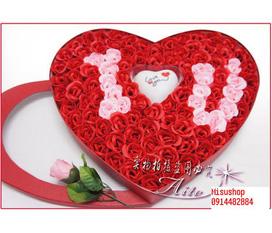 Hoa hồng hình trái tim rực rỡ ,lãng mạn mùa valentine......