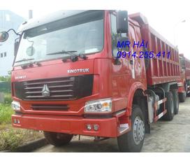 Bán tải ben howo 336 hp 3 chân hàng mới nhập khẩu năm 2012 lốp 12.00 20
