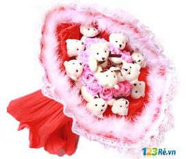 Hoa gấu minh chứng tình yêu: Lưu lại một dấu ấn khó quên trong lòng người ấy dịp Valentine với Hoa gấu bông.