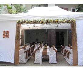 Nhà bạt cưới nhỏ xinh, cho đám cưới của bạn thêm lãng mạn, lịch sự... phông cưới hoa cưới, tổ chức sự kiện cưới.... hoa