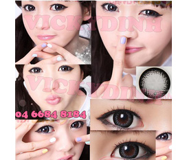 HOT 1 đôi lens vickydink xtra princess gray 200k