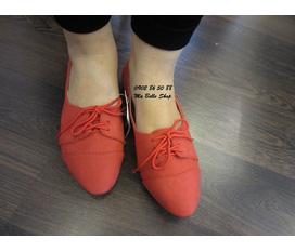 Bán nhanh 1 đôi giày bệt Oxford Zara buộc dây cực xinh new nguyên mác