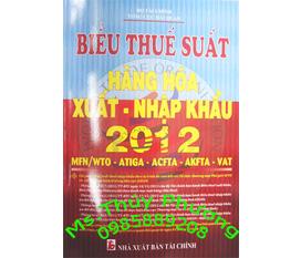 Biểu thuế 2012 nhà xuất bản tài chính