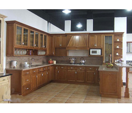 Tủ bếp gỗ Lát Còng tự nhiên 100%