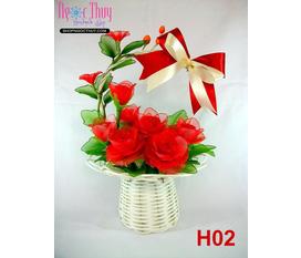 Giỏ hoa hồng Valentine