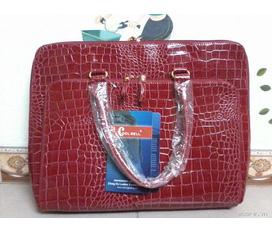 Cặp da cá sấu coll bell màu đỏ, hồng, đen, tím. Giá 310k