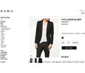 Zara Man Faux Suede Blazer