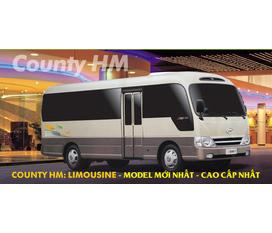 Hyundai county 29 chỗ thân dài 7,6m cốp sau rộng dãi nội thất sang trọng chất lượng cao giá tôt nhất miền bắc