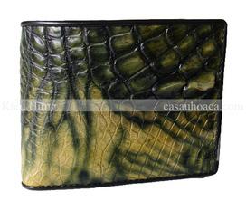 Bóp da nam cá sấu Hoa Cà Kiểu dáng độc quyền của Trại Hoa Cà.