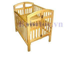 Gường gỗ trẻ em 2 trong 1 xuất khẩu